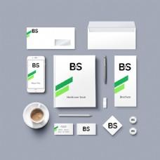 绿色企业VI形象样机模板