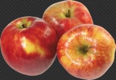 三个红苹果图片免抠png透明图层素材