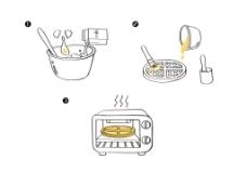 松饼面粉包装袋背面制作小步骤