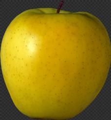 漂亮黄色苹果图片免抠png透明图层素材