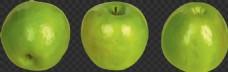 三只绿苹果图片免抠png透明图层素材