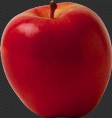 漂亮红颜色苹果图片免抠png透明图层素材