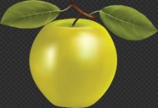 黄绿色苹果图片免抠png透明图层素材