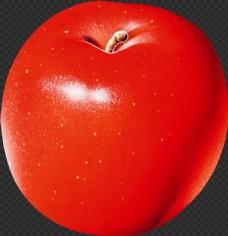 漂亮红色苹果图片免抠png透明图层素材