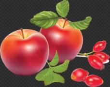 漂亮红颜色苹果免抠png透明图层素材