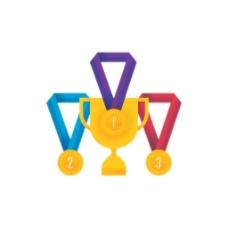 手绘奖牌金奖元素