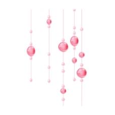 粉色珍珠吊链元素