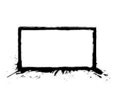 黑色边框相框png免扣透明元素