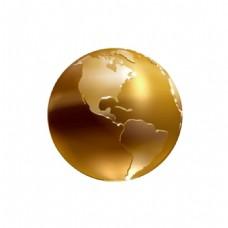 金色渐变质感地球元素