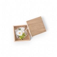 盒子里的小花免扣透明png元素