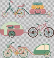 各种单车自行车插画免抠png透明图层素材