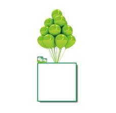 绿色气球相框png免扣元素