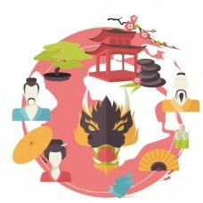 卡通动物图案人物图案png元素