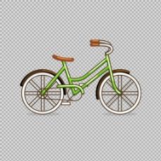 简约自行车插画免抠png透明图层素材