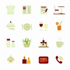 厨房餐厅设计装饰图标矢量素材