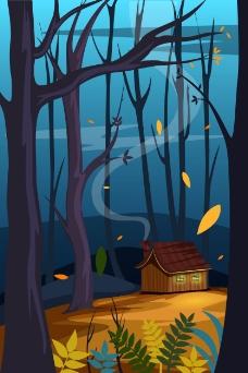 寂静的森林插画