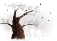 艺术树干装饰背景