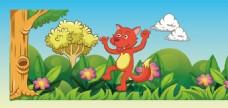 狐狸卡通插画设计