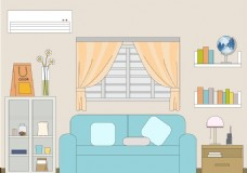 我们家的客厅插画