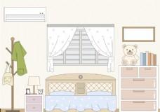 儿童房间插画