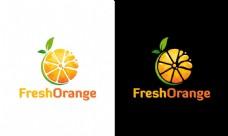创意水果橙子商标设计