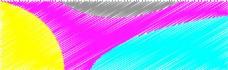 圆形彩色手绘背景banner