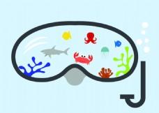 矢量鱼设计图