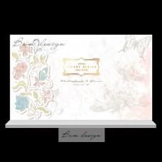剪纸风格复古花朵婚礼活动背景设计