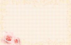 粉色玫瑰花梦幻背景