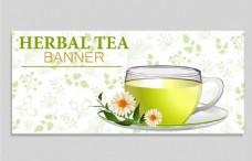 菊花茶广告背景