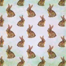 水彩画兔无缝图案