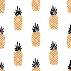 卡通菠萝夏季清新图案素材