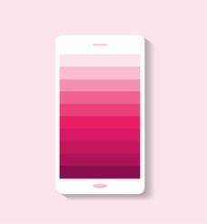 粉色渐变手机页面背景