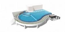 高端泳池效果图