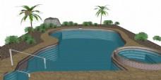 休闲泳池效果图