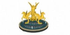 金色喷泉效果图