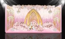 粉色婚礼效果图