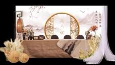 新中式婚礼签到区效果图