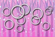 粉系3d浪漫圆圈背景墙壁纸图案