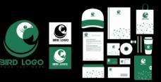 绿色vi设计矢量背景