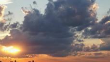 实拍夕阳黄昏视频