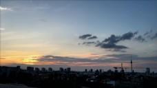 夕阳下的风景视频