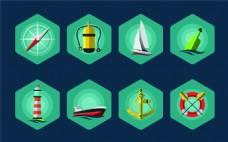 航海小图标素材UI