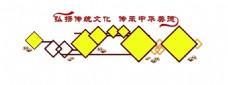 中国风中华美德墙面设计