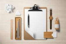 简洁公司文具办公用品样机PSD素材