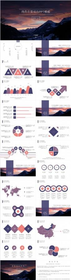 商务年度报告PPT模板