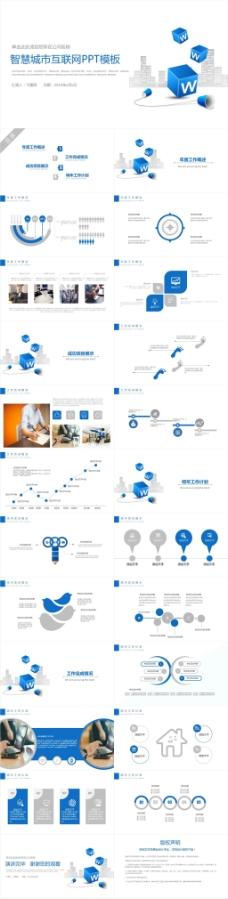 智慧城市互联网电子商务PPT模板