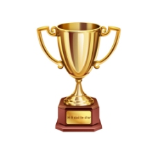 金色奖杯获奖元素