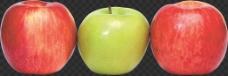 红色绿色苹果图片免抠png透明图层素材