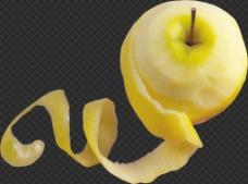 被削皮的苹果图片免抠png透明图层素材